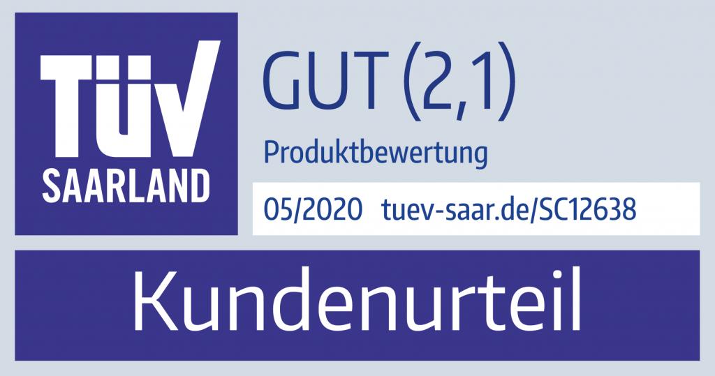 ONE COLOR Pruefzeichen TUEV Saar
