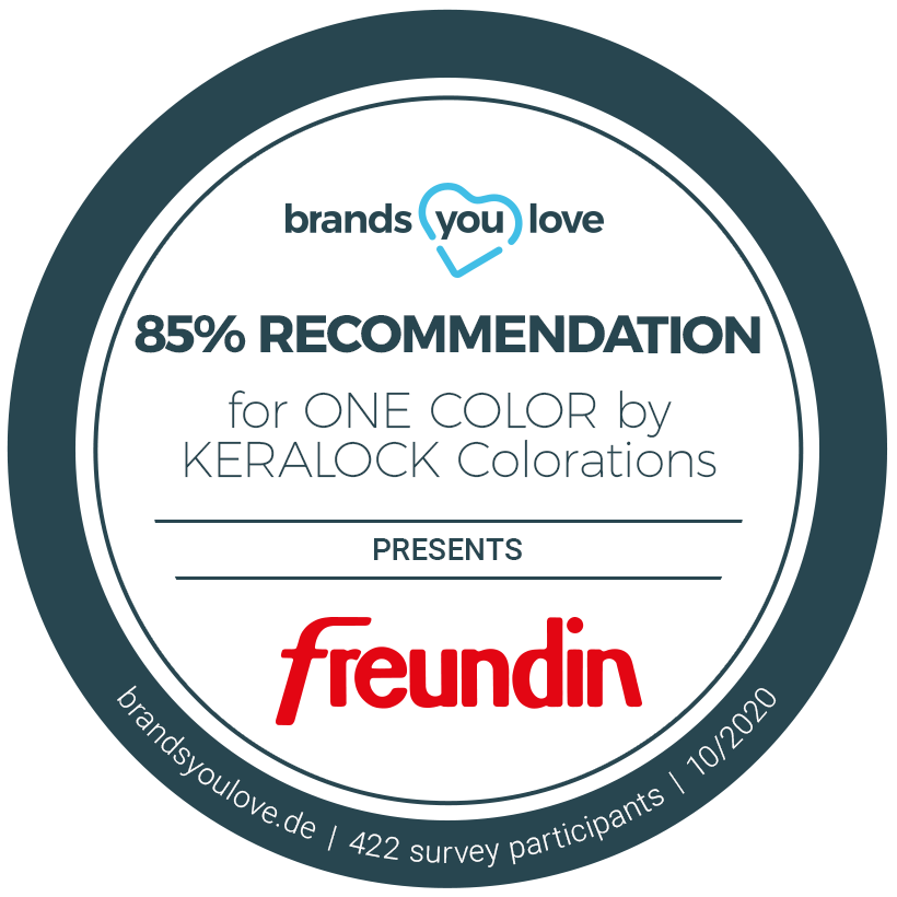 ONE COLOR seal of recommendation brands you love magazine freundin